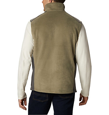 Men's Steens Mountain™ Fleece Vest - Tall Steens Mountain™ Vest | 613 | 5XT, Stone Green, Shark, back
