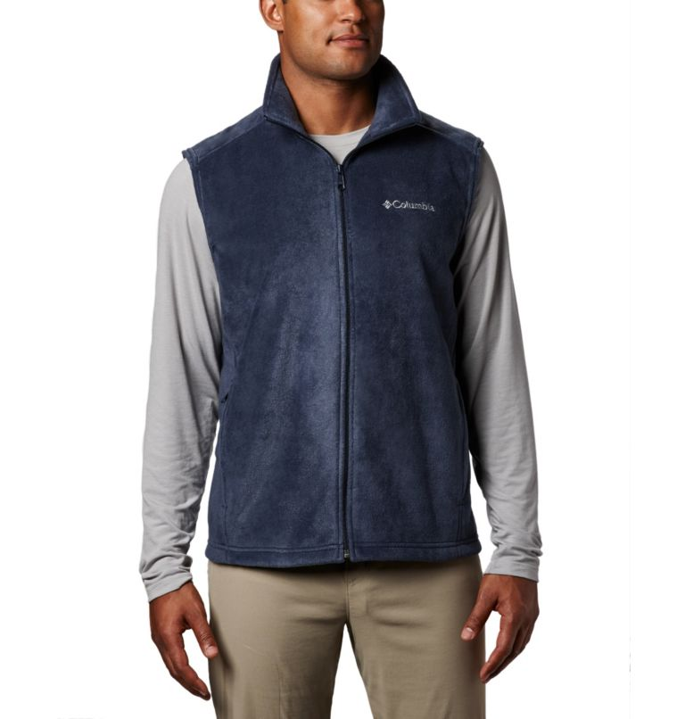 Steens Mountain™ Vest | 464 | LT Men's Steens Mountain™ Fleece Vest - Tall, Collegiate Navy, front