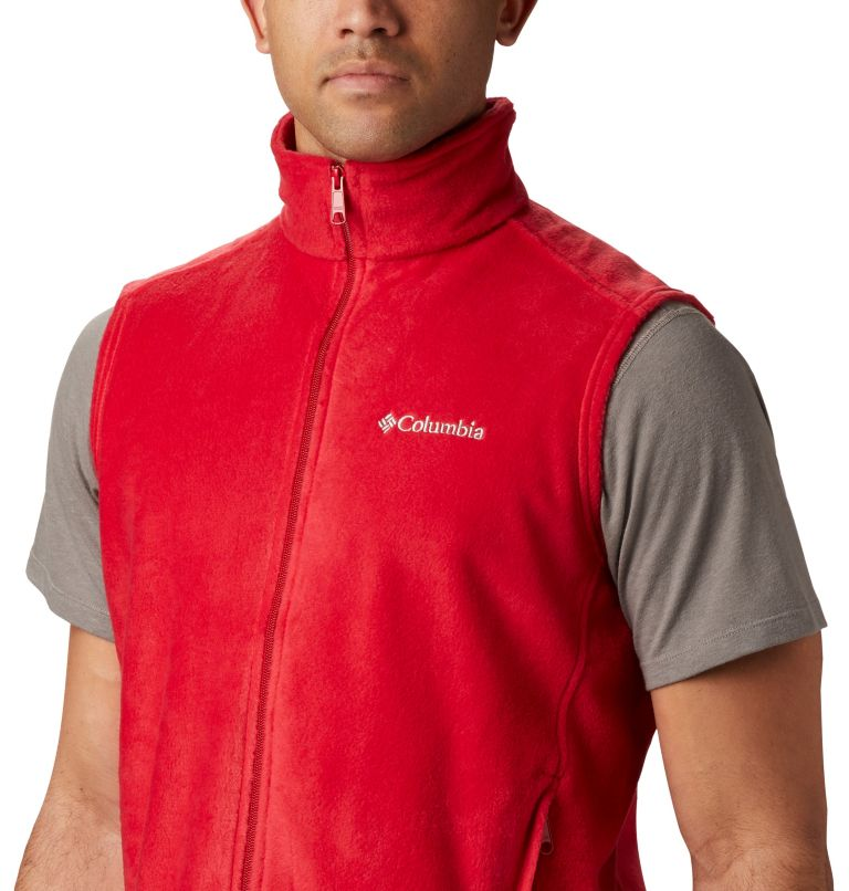 Steens Mountain™ Vest | 613 | LT Men's Steens Mountain™ Fleece Vest - Tall, Mountain Red, a1