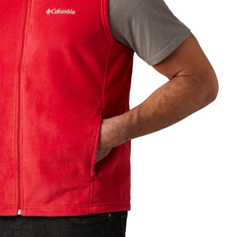 Steens Mountain™ Vest | 613 | LT Men's Steens Mountain™ Fleece Vest - Tall, Mountain Red, a2