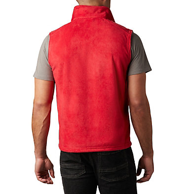 Men's Steens Mountain™ Fleece Vest - Tall Steens Mountain™ Vest | 613 | 5XT, Mountain Red, back