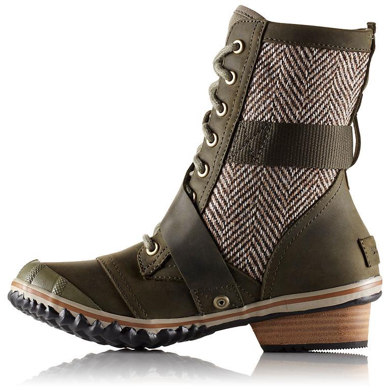 Sorel Womens Slimboot Lace Herringbone Boot