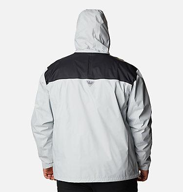 Men's PFG Storm™ Jacket – Big PFG Storm™ Jacket | 469 | 1X, Cool Grey, Vivid Blue, back