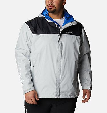 Men's PFG Storm™ Jacket – Big PFG Storm™ Jacket | 469 | 1X, Cool Grey, Vivid Blue, front