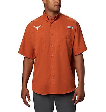 Men's PFG Tamiami™ Short Sleeve Shirt - Texas NFL Tamiami™ Short Sleeve Shirt | 105 | S, TEX - Cedar, front