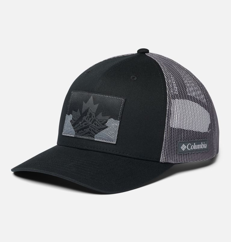 Columbia Mesh™ Snap Back Hat | 015 | O/S Unisex Columbia Mesh™ Snap Back Hat, Black Canadian Rockies, front