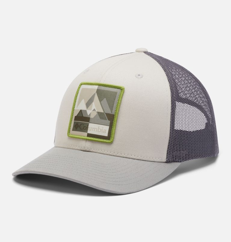 Columbia Mesh™ Snap Back Hat   024   O/S Unisex Columbia Mesh™ Snap Back Hat, Stone, City Grey, Moutain Puzzle Patch, front