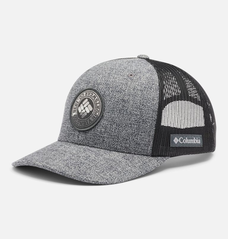Columbia Mesh™ Snap Back Hat   034   O/S Unisex Columbia Mesh™ Snap Back Hat, Grill Heather, Circle Patch, front