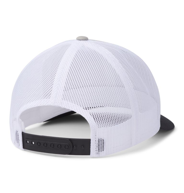 Columbia Mesh™ Snap Back Hat | 045 | O/S Unisex Columbia Mesh™ Snap Back Hat, Columbia Grey, Black, Outsider Patch, back