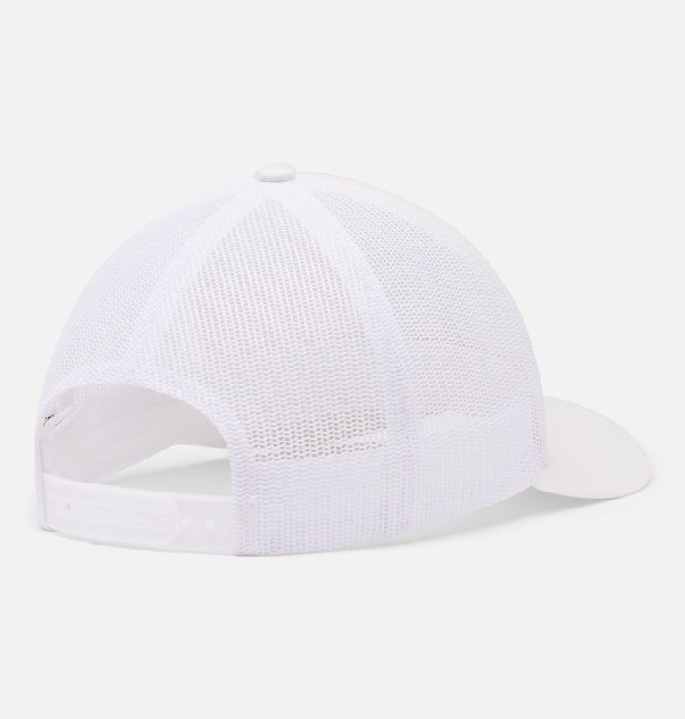 Columbia Mesh™ Snap Back Hat | 101 | O/S Unisex Columbia Mesh™ Snap Back Hat, White, back