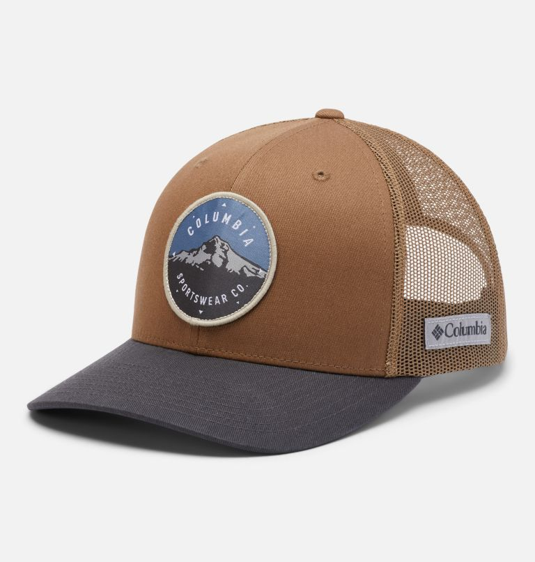 Columbia Mesh™ Snap Back Hat | 259 | O/S Unisex Columbia Mesh™ Snap Back Hat, Delta, Shark, Mt Hood Cicle Patch, front