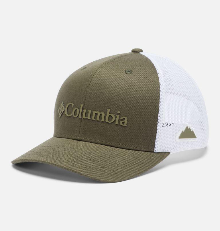 Columbia Mesh™ Snap Back Hat | 320 | O/S Unisex Columbia Mesh™ Snap Back Hat, Olive Green, Weld Logo, front