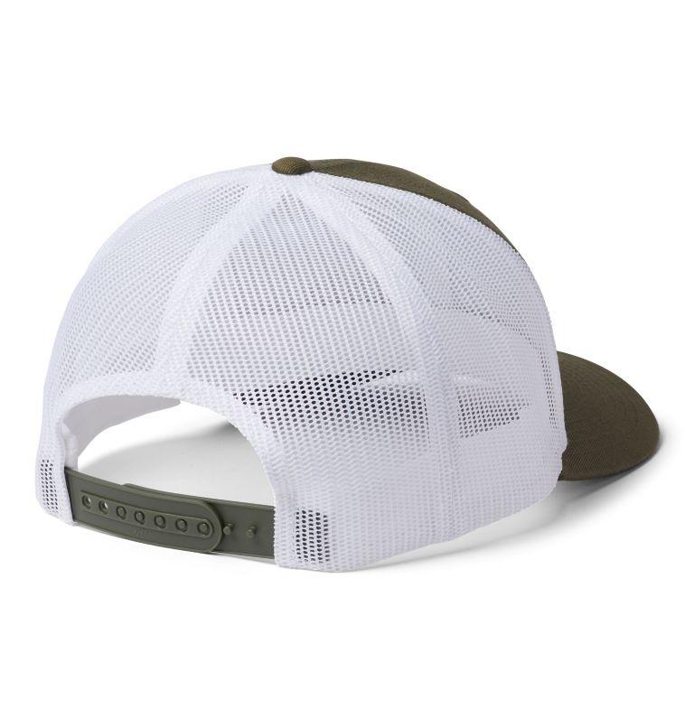 Columbia Mesh™ Snap Back Hat | 327 | O/S Unisex Columbia Mesh™ Snap Back Hat, New Olive, White, Black, back