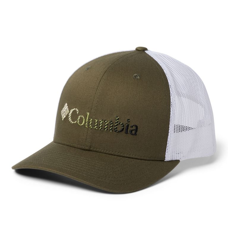 Columbia Mesh™ Snap Back Hat | 327 | O/S Unisex Columbia Mesh™ Snap Back Hat, New Olive, White, Black, front