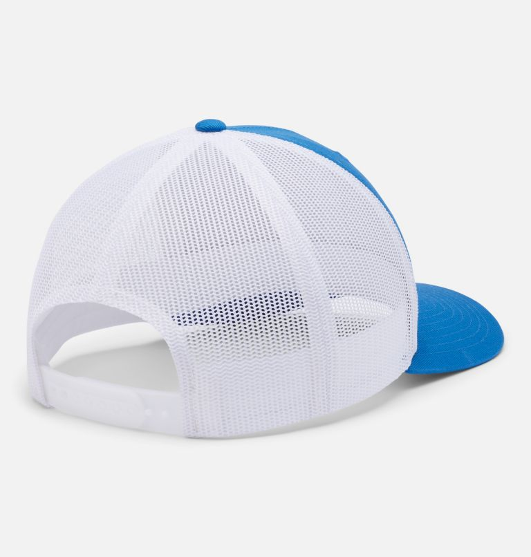 Columbia Mesh™ Snap Back Hat | 432 | O/S Unisex Columbia Mesh™ Snap Back Hat, Bright Indigo, Mountain Puzzle Patch, back