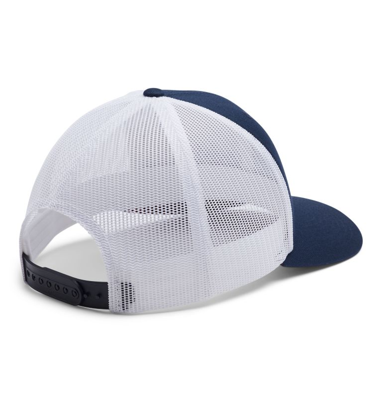 Columbia Mesh™ Snap Back Hat | 470 | O/S Casquette Snapback Columbia Mesh™ Unisexe, Coll Navy, White, Red Jasper, back