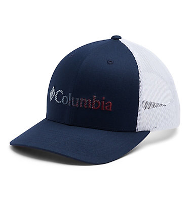Unisex Columbia Mesh™ Snap Back Hat Columbia Mesh™ Snap Back Hat | 019 | O/S, Coll Navy, White, Red Jasper, front
