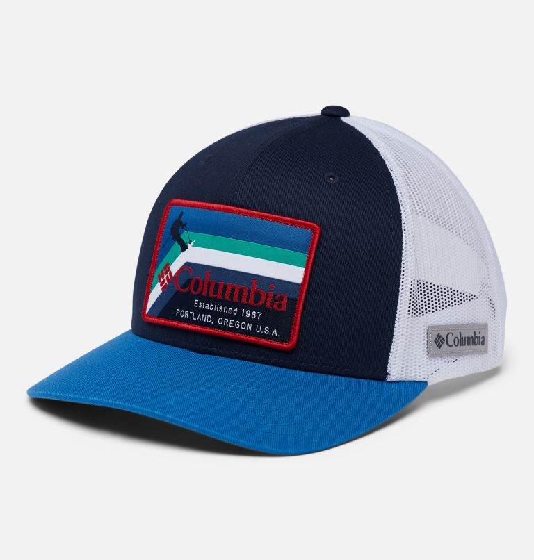 Columbia Mesh™ Snap Back Hat | 472 | O/S Unisex Columbia Mesh™ Snap Back Hat, Collegiate Navy, Portland Patch, front