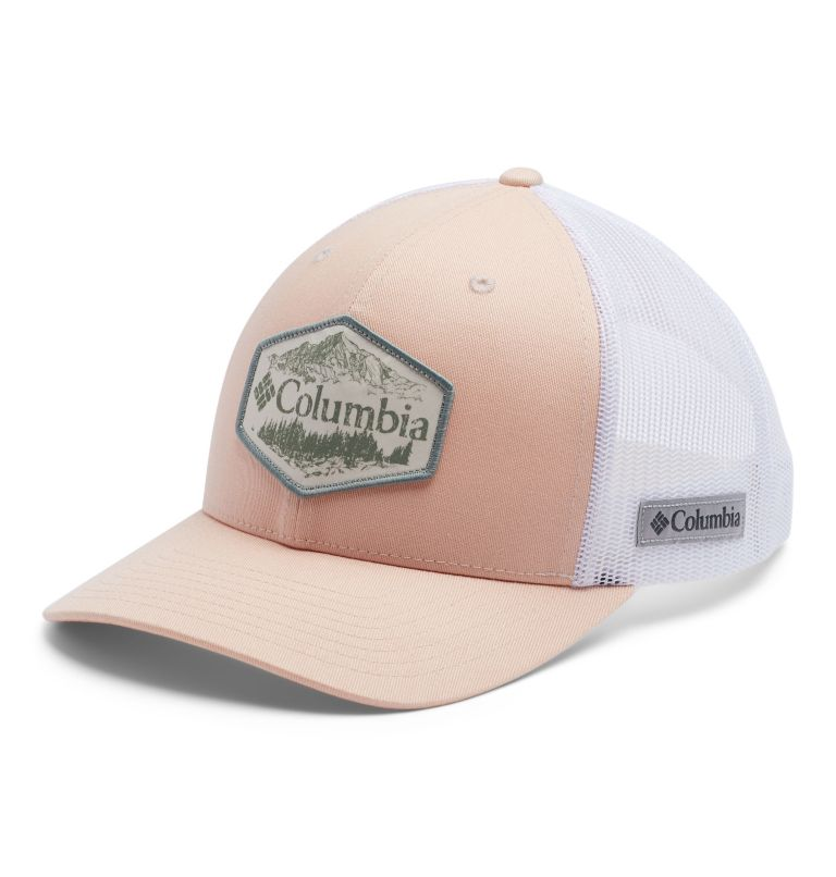 Columbia Mesh™ Snap Back Hat | 870 | O/S Columbia Mesh™ Snapback Hut, Unisex, Peach Cloud, Outsider Patch, front