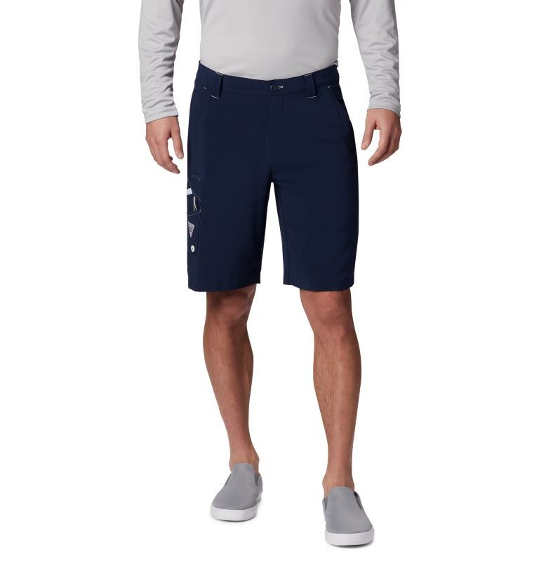 Terminal Tackle™ Short | 465 | 30 Men's PFG Terminal Tackle™ Shorts, Collegiate Navy, White, front