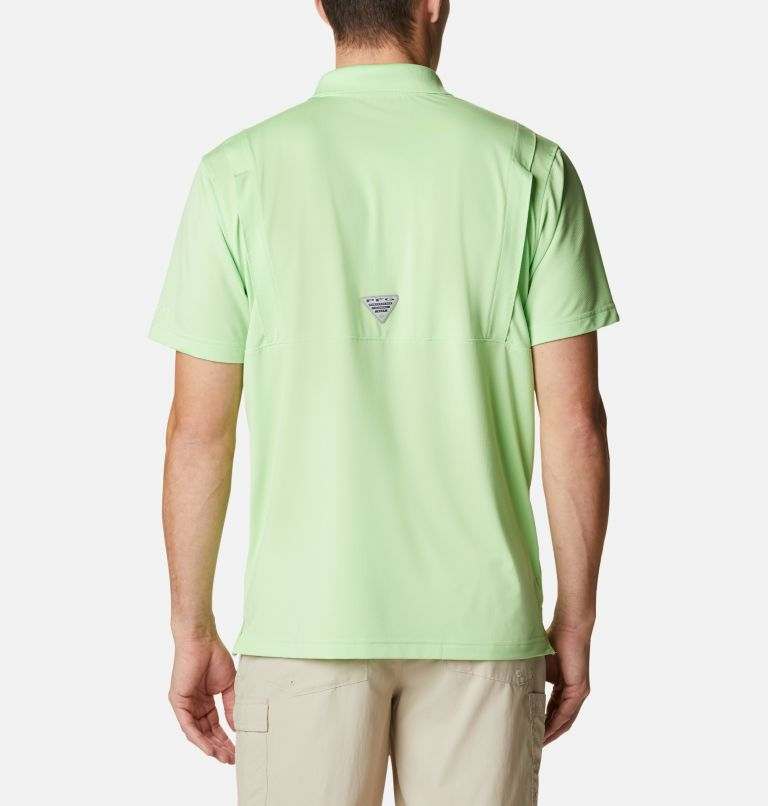 Skiff Cast™ Polo | 398 | XL Men's PFG Skiff Cast™ Polo, Lime Glow, back
