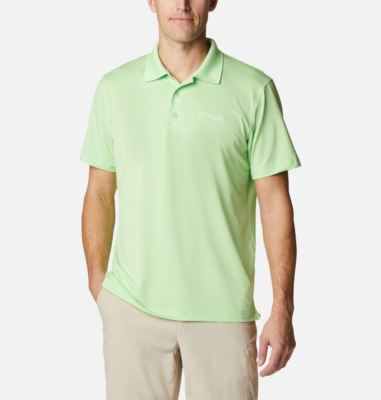 Skiff Cast™ Polo | 398 | XL Men's PFG Skiff Cast™ Polo, Lime Glow, front