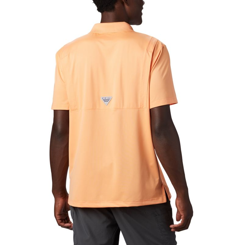 Skiff Cast™ Polo | 873 | XXL Men's PFG Skiff Cast™ Polo, Bright Nectar, back