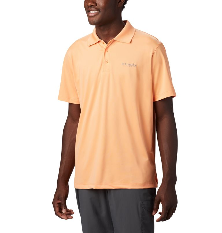 Skiff Cast™ Polo | 873 | XXL Men's PFG Skiff Cast™ Polo, Bright Nectar, front