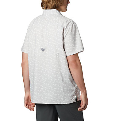 Men's PFG Super Slack Tide™ Camp Shirt Super Slack Tide™ Camp Shirt | 027 | XL, Cool Grey Watery Fish Print, back