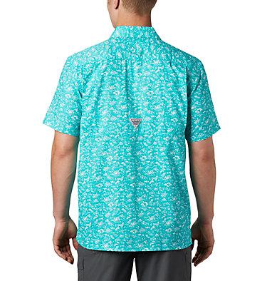 Men's PFG Super Slack Tide™ Camp Shirt Super Slack Tide™ Camp Shirt | 027 | XL, Bright Aqua Gamefish Print, back