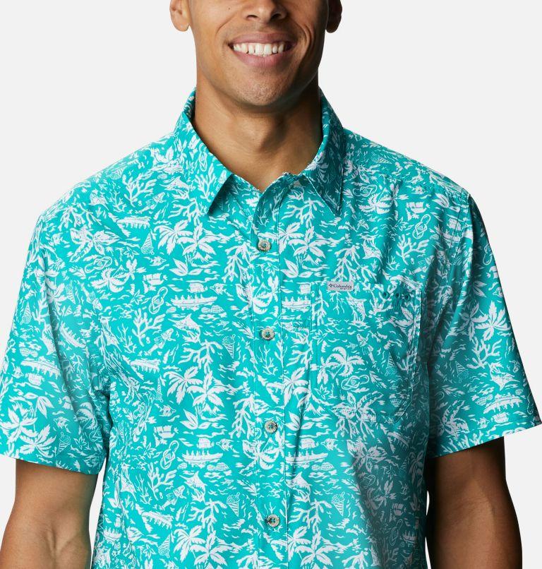 Super Slack Tide™ Camp Shirt | 361 | 3X Men's PFG Super Slack Tide™ Camp Shirt – Big, Tropic Water Kona Print, a2