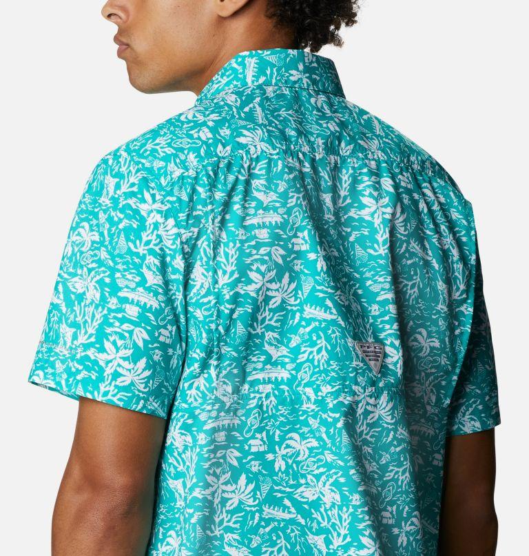 Super Slack Tide™ Camp Shirt | 361 | 3X Men's PFG Super Slack Tide™ Camp Shirt – Big, Tropic Water Kona Print, a3