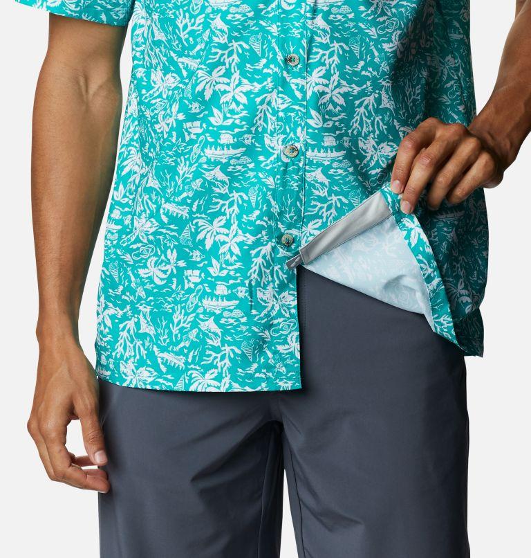 Super Slack Tide™ Camp Shirt | 361 | 3X Men's PFG Super Slack Tide™ Camp Shirt – Big, Tropic Water Kona Print, a4