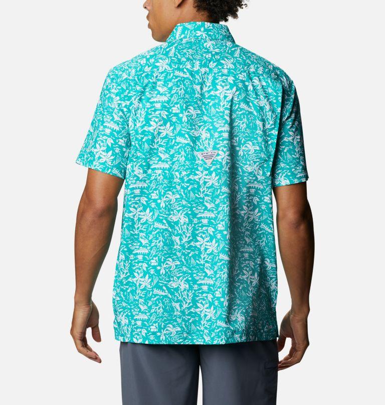 Super Slack Tide™ Camp Shirt | 361 | 3X Men's PFG Super Slack Tide™ Camp Shirt – Big, Tropic Water Kona Print, back