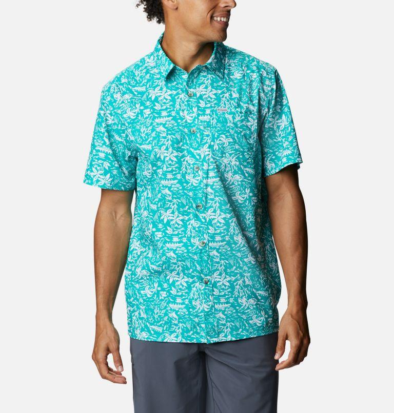 Super Slack Tide™ Camp Shirt | 361 | 3X Men's PFG Super Slack Tide™ Camp Shirt – Big, Tropic Water Kona Print, front