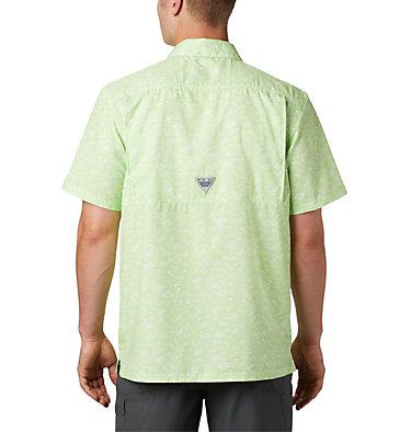 Men's PFG Super Slack Tide™ Camp Shirt – Tall Super Slack Tide™ Camp Shirt | 492 | LT, Jade Lime Gamefish Print, back