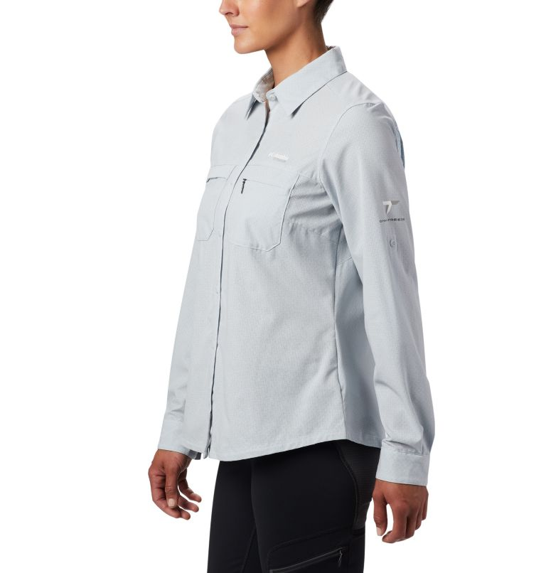 Irico™ Long Sleeve Shirt | 031 | XS Camicia a maniche lunghe Irico™ da donna, Cirrus Grey Heather, a2