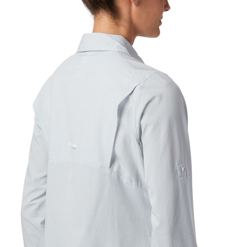 Irico™ Long Sleeve Shirt | 031 | XS Camicia a maniche lunghe Irico™ da donna, Cirrus Grey Heather, a3