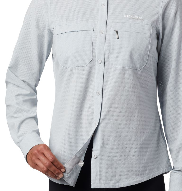 Irico™ Long Sleeve Shirt | 031 | XS Camicia a maniche lunghe Irico™ da donna, Cirrus Grey Heather, a4