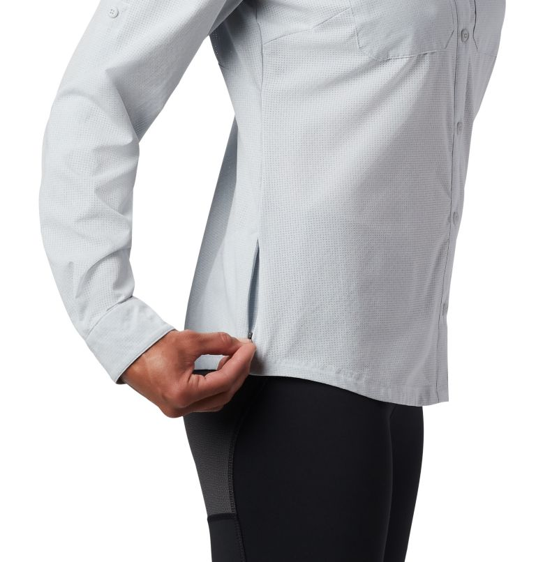 Irico™ Long Sleeve Shirt | 031 | XS Camicia a maniche lunghe Irico™ da donna, Cirrus Grey Heather, a5