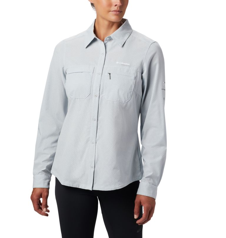 Irico™ Long Sleeve Shirt | 031 | XS Camicia a maniche lunghe Irico™ da donna, Cirrus Grey Heather, front