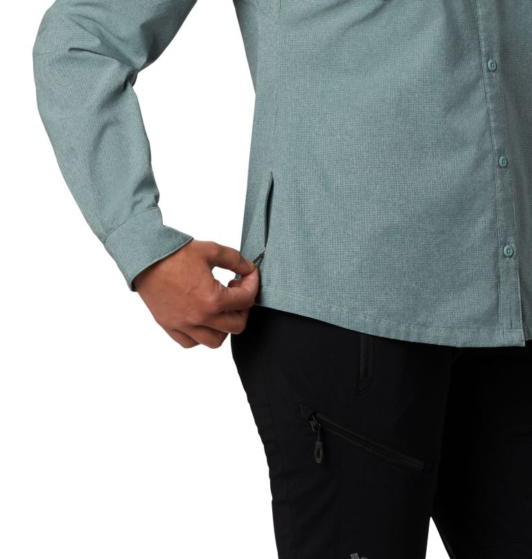 Irico™ Long Sleeve Shirt | 305 | M Camicia a maniche lunghe Irico™ da donna, Light Lichen Heather, a2
