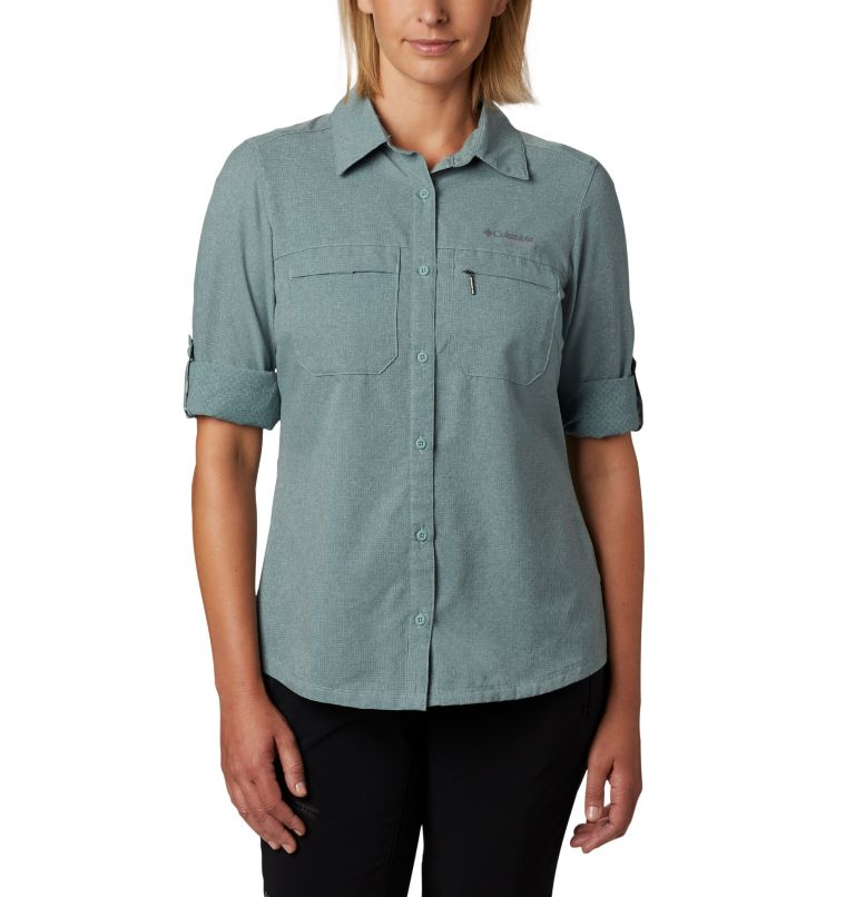 Irico™ Long Sleeve Shirt | 305 | M Camicia a maniche lunghe Irico™ da donna, Light Lichen Heather, a3
