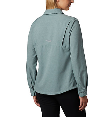 Irico™ langärmlige Hemdbluse Irico™ Long Sleeve Shirt | 627 | S, Light Lichen Heather, back