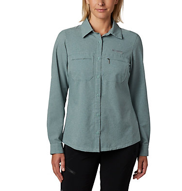 Irico™ langärmlige Hemdbluse Irico™ Long Sleeve Shirt | 627 | S, Light Lichen Heather, front