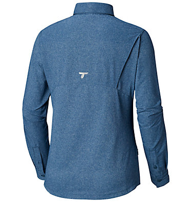 Irico™ langärmlige Hemdbluse Irico™ Long Sleeve Shirt | 627 | S, Petrol Blue Heather, back