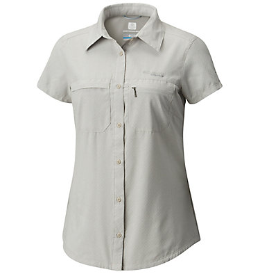 Irico™ kurzärmeliges Damenhemd Irico™ Short Sleeve Shirt | 027 | XS, Flint Grey Heather, front