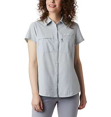Irico™ kurzärmeliges Damenhemd Irico™ Short Sleeve Shirt | 027 | XS, Cirrus Grey Heather, front