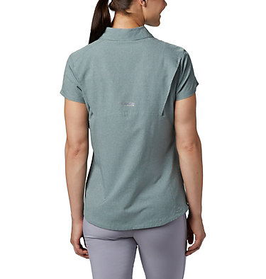 Women's Irico™ Short Sleeve Shirt Irico™ Short Sleeve Shirt | 027 | XS, Light Lichen Heather, back