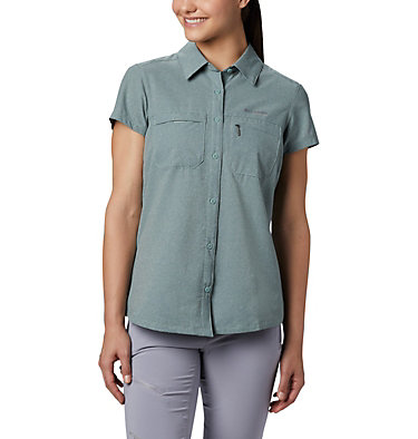 Women's Irico™ Short Sleeve Shirt Irico™ Short Sleeve Shirt | 027 | XS, Light Lichen Heather, front